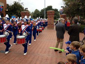 Band on Alumni Walkway