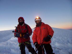 Genov on Mount Chimborazo in Ecuador 6310m