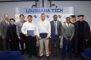 Fall Quarter Graduation Ceremony for LATechFB team members
