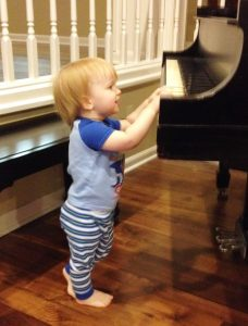 Christopher on piano