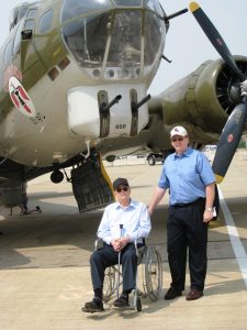 Dad & Les at Air Show with B17 - 2
