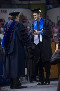 Andy McAlindon, 2015 Summer Commencement, Thomas Assembly Center, Thursday, 08-20-2015, (photo by Donny Crowe), Copyright:Louisiana Tech University.All Rights Reserved.(dcrowe@latech.edu) 318-257-4854