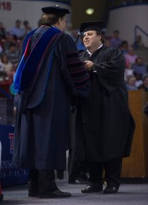 Gantt Graham, 2015 Summer Commencement, Thomas Assembly Center, Thursday, 08-20-2015, (photo by Donny Crowe), Copyright:Louisiana Tech University.All Rights Reserved.(dcrowe@latech.edu) 318-257-4854