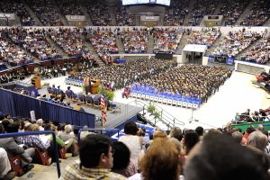 Spring 2015 Commencement, Louisiana Tech University, Thomas Assembly Center, (photo by Donny Crowe), Copyright:Louisiana Tech University.All Rights Reserved.(dcrowe@latech.edu) 318-257-4854