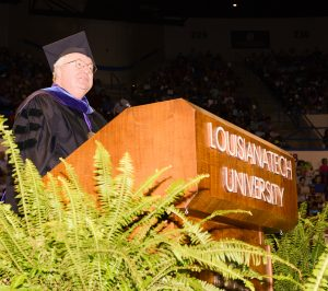 Three Hundred and Sixteenth Commencement Main address by Mr. John Hofmeister, Founder and Chief Executive Citizens Affordable Energy Saturday, 05/21/2016, Ruston, LA, Louisiana Tech University, (photo by Donny J Crowe), Copyright:Louisiana Tech University.All Rights Reserved.(dcrowe@latech.edu) 318-257-4854