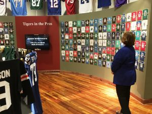 Kathy at Eddie Robinson Museum
