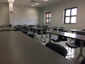 Davison Hall Blue Fire classroom