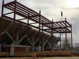 Steel at stadium