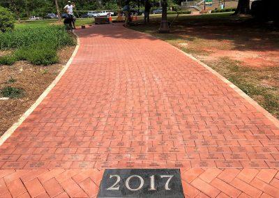 Alumni walkway continues to grow