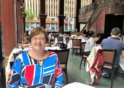 Kathy at Restaurant in Times Square