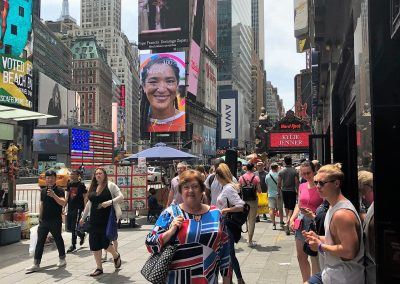Kathy in Times Square