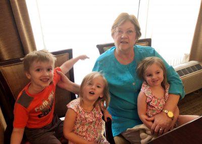 Kathy & kids in BR