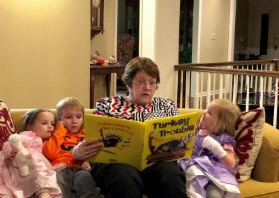 Kathy reading Turkey Trouble
