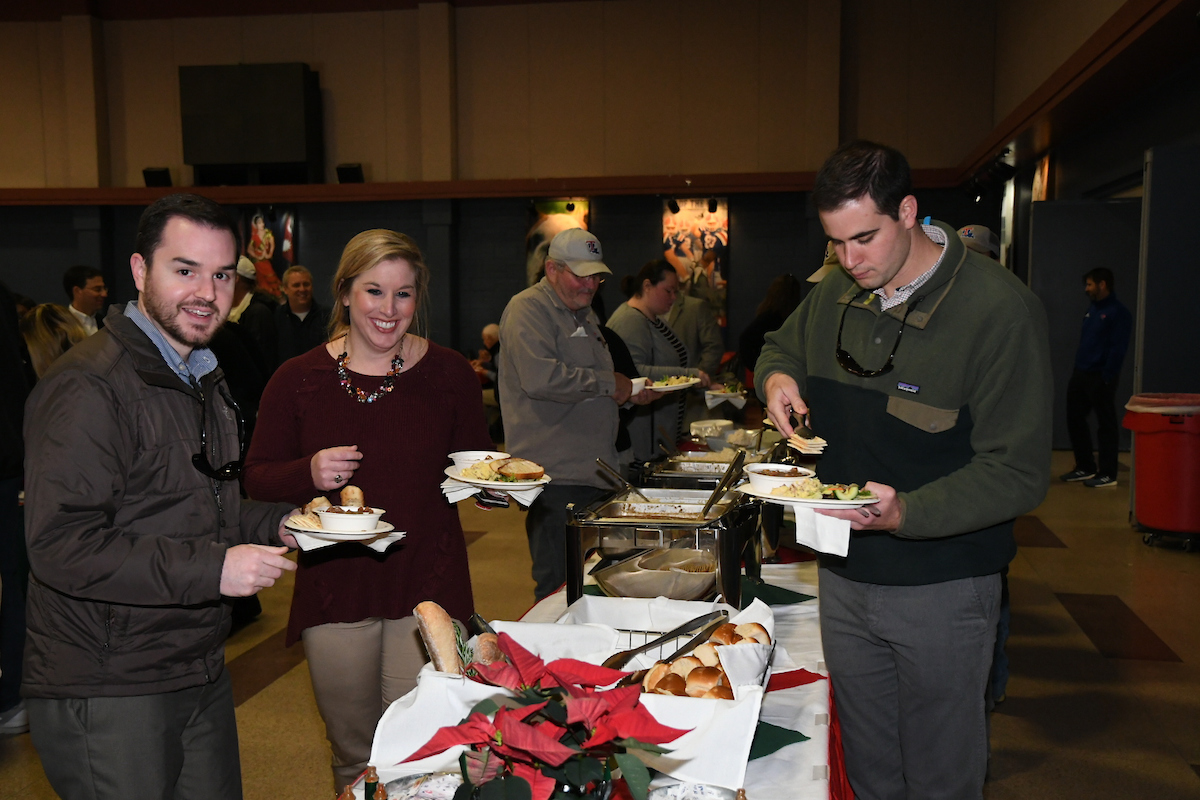 This year's president's gumbo was enjoyed by all.
