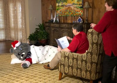 This week, we filmed a special story time with Champ.
