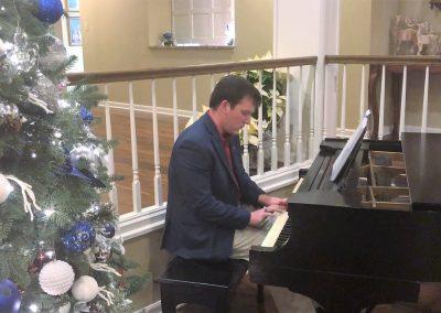 Sammy Monk at piano