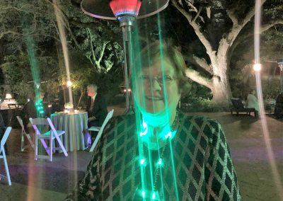 Kathy in green light