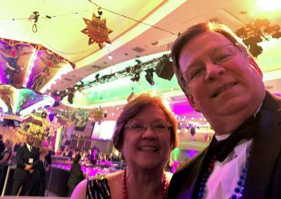 Les & Kathy at Mardi Gras Ball